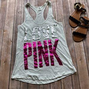 PINK Victoria's Secret Sequin Tank Size XS